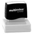 Permanent multi-surface IS-55 pre-inked rubber stamp quick dries on glossy paper, CDs, metal, plastic and more.  Free Shipping on order over $10.