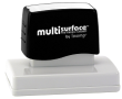 Permanent multi-surface IS-60 pre-inked rubber stamp quick dries on glossy paper, CDs, metal, plastic and more.  Free Shipping on order over $10.