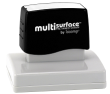 Permanent multi-surface IS-66 pre-inked rubber stamp quick dries on glossy paper, CDs, metal, plastic and more.  Free Shipping on order over $10.