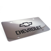 This chrome plated license plate can be engraved with your custom text or logo. Fits a standard license plate area and frame. Free shipping on orders over $25.