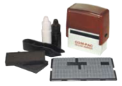 D-I-Y Laundry Marker Set. Customize your own laundry rubber stamps. Kit With Letters And Numbers. Black Ink and White Ink. Free Shipping and Knockout Prices from RubberStampChamp.com.