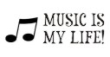 Self-inking rubber stamps for teachers.  Stamp Music is my Life or shop other messages in your choice of 11 different ink colors. Free shipping on orders over $10.