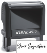 Don't write it, Stamp it! Small self-inking stamp with your actual signature in your choice of 11 ink colors! Free shipping on orders over $15!