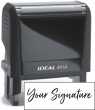 Don't write it, Stamp it! Medium self-inking stamp with your actual signature in your choice of 11 ink colors! Free shipping on orders over $10!