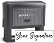 Don't write it, Stamp it! Large self-inking stamp with your actual signature in your choice of 11 ink colors! Free shipping on orders over $10!