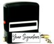 Don't write it, Stamp it! Customize this self-inking stamp with locking case with your actual signature in your choice of 11 ink colors! Free shipping on orders over $10!