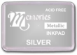 Memories Metallic Silver Pigment Stamp Pads. Fast delivery. Easy order online. Knockout Prices. Volume discounts. RubberStampChamp.com. Free Shipping.