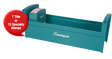 This Xstamper small stamp tray holds 7 title stamps or 12 specialty stamps,  keeping your stamps orderly & at your fingertips. Fast & free shipping over $45.
