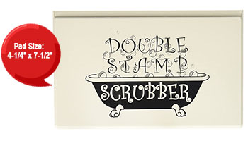 This double stamp scrubber keeps clear & rubber stamps clean. Use w/ Ultra Clean™ to wash the scrubber for long lasting results. Orders ship free over $45!