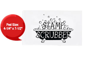 This stamp scrubber keeps clear & rubber stamps clean. Use w/ Ultra Clean™ to wash the scrubber for long lasting results. Orders ship free over $45!
