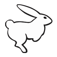 Rabbit self-inking rubber stamp available in your choice of 4 sizes and 11 ink colors. Refillable with Ideal ink. Online orders over $25 get free shipping.