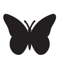 Butterfly with solid fill self-inking rubber stamp available in your choice of 4 sizes and 11 ink colors. Refillable with Ideal ink. Orders over $25 ship free.