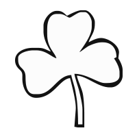 Shamrock outline self-inking rubber stamp available in your choice of 4 sizes and 11 ink colors. Refillable with Ideal ink. Orders over $45 ship free!