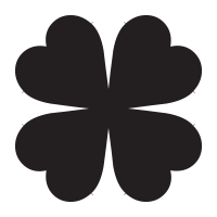 Four leaf clover self-inking rubber stamp available in your choice of 4 sizes & 11 ink colors. Refillable with Ideal replacement ink. Orders over $25 ship free.