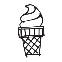 Ice cream swirl self-inking rubber stamp available in your choice of 4 sizes and 11 ink colors. Refillable with Ideal ink. Orders over $25 get free shipping.
