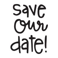Save Our Date self-inking rubber stamp available in your choice of 4 sizes and 11 ink colors. Refillable with Ideal ink. Orders over $45 ship free!