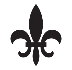 Fleur de Lis self-inking rubber stamp available in your choice of 4 stamp sizes and 11 ink colors. Reinkable with Ideal ink. Online orders over $45 ship free.