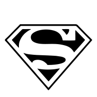 "Detailed Superman ""S"" logo self-inking rubber stamp in your choice of 4 sizes and 11 ink colors. Clean impression. Refillable. Orders over $25 ship free."