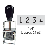 """This 4 band Comet self-inking numbering stamp has a character size of 1/4"""" and comes in 11 stunning ink color options. Orders over $45 ship free!"""