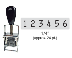 """This 6 band Comet self-inking numbering stamp has a character size of 1/4"""" and comes in 11 stunning ink color options. Orders over $45 ship free!"""