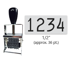 """This 4 band Comet self-inking numbering stamp has a character size of 1/2"""" and comes in 11 stunning ink color options. Orders over $45 ship free!"""
