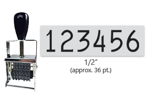 """This 6 band Comet self-inking numbering stamp has a character size of 1/2"""" and comes in 11 stunning ink color options. Orders over $45 ship free!"""
