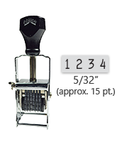 """This 4 band Comet self-inking numbering stamp has a character size of 5/32"""" and comes in 11 stunning ink color options. Orders over $45 ship free!"""