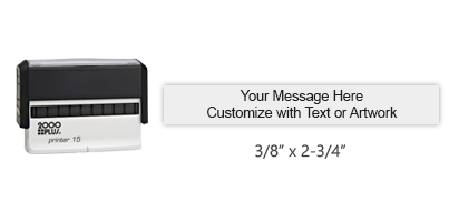 "Customize your 3/8"" x 2-3/4"" stamp impression with text or your signature in your choice of 11 vibrant ink colors. Ships free in 1-2 business days."