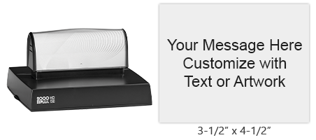 "Customize 20 lines of text on this 3-1/2"" x 4-1/2"" stamp in one of 11 stunning ink colors! Long-lasting impressions and use. Orders over $25 ship free!"