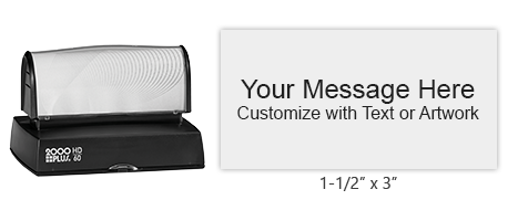 "Personalize 9 lines of text on this 1-1/2"" x 3"" stamp in your choice of 11 ink colors! Long-lasting impressions and use. Orders over $25 ship free!"