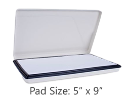 These large heavy duty metal stamp pads are ideal for use w/ industrial permanent inks. Refill w/ water-based ink/waterproof ink. Orders over $45 ship free!
