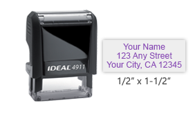 Ideal 4911 return address self-inking stamp in your choice of 11 ink colors. Ink and replacement pads sold separately. Free shipping on orders over $45