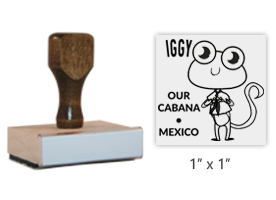 "The 1"" x 1"" Our Cabaña's Mascot stamp is approved by the WAGGGS marketing department & World Centre Managers.  Requires separate ink pad. Free shipping over $45!"