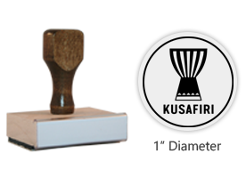 "The 1"" round Kusafiri Icon stamp is approved by the WAGGGS Marketing Dept. & World Centre Managers and requires a separate ink pad. Orders over $45 ship free!"