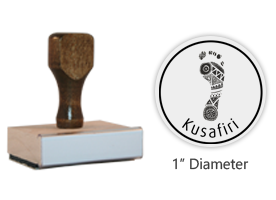 "The 1"" round Kusafiri logo stamp is approved by the WAGGGS Marketing Dept. & World Centre Managers. Requires separate ink pad. Free shipping on orders over $45!"