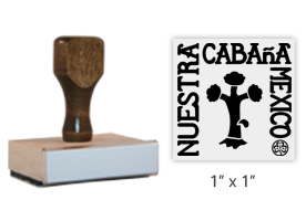 "The 1"" square Our Cabaña Logo stamp is approved by the WAGGGS Marketing Dept. & World Centre Managers. Requires separate ink pad. Orders over $45 ship free!"