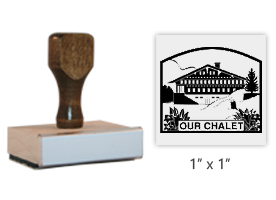 "The 1"" square Our Chalet Logo stamp is approved by the WAGGGS Marketing Dept. & World Centre Managers. Requires separate ink pad. Orders over $45 ship free!"