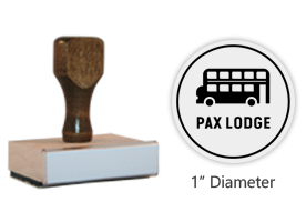 "The 1"" round Pax Lodge Icon stamp is approved by the WAGGGS Marketing Dept. & World Centre Managers and requires a separate ink pad. Orders over $45 ship free!"