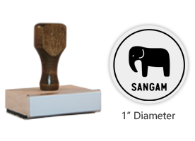 "The 1"" round Sangam Icon stamp is approved by the WAGGGS Marketing Dept. & World Centre Managers and requires separate ink pad. Free shipping on orders over $45!"