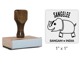 "The 1"" x 1"" Sangam's Mascot stamp is approved by the WAGGGS marketing department & World Centre Managers. Separate ink pad required. Orders over $45 ship free!"