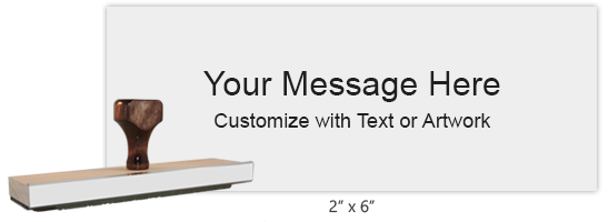 """Customize this 2"""" x 6"""" stamp with up to 12 lines of text or artwork! Primarily used for logos. Separate ink pad required. Free shipping on orders over $10!"""