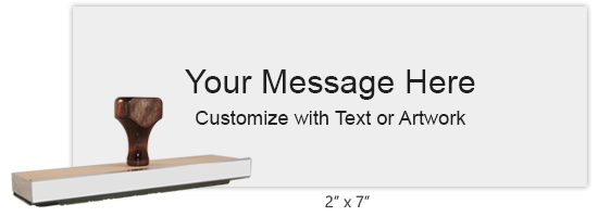 """Customize this 2"""" x 7"""" stamp with up to 12 lines of text or artwork! Primarily used for logos. Separate ink pad required. Free shipping on orders over $10!"""