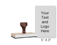 "Customize this 5"" x 3""stamp with up to 25 lines of text or artwork! Great for document or logo stamps. Separate ink pad required. Free shipping on orders over $45!"