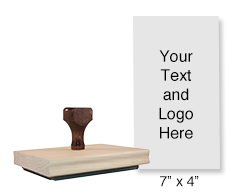 Personalize this wood stamp with 25 lines of text or your artwork! Great for long logos or messages. Separate ink pad required. Ships in 1-2 business days!
