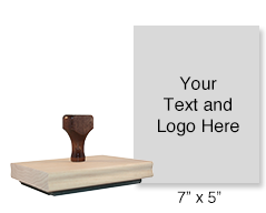 Customize this hand stamp with 25 lines of text or your artwork! Used for logos or office forms and requires a separate ink pad. Ships in 1-2 business days!