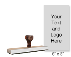 Customize this hand stamp with up to 25 lines of text or upload your artwork! Used for large logos. Separate ink pad required. Ships in 1-2 business days!