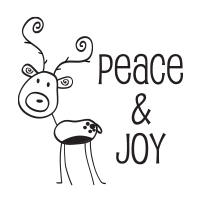 Create holiday cards & crafts w/ your family using our awesome self-inking Reindeer Peace holiday stamp. 11 ink color options. Free shipping over $45.