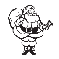 Create distinctive holiday cards do fun crafts with our self-inking Santa and Bell holiday rubber stamp  pick out of 11 ink colors. Free shipping over $45.