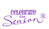 Celebrate with our self-inking holiday stamp that says Celebrate The Season with Snowflake design. Your choice of 11 ink colors. Orders over $45 ship free!
