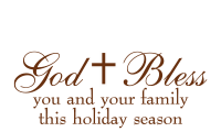 The perfect addition to holiday cards & gifts is the self-inking God Bless w/ cross stamp. 11 ink color options & 2 sizes. Orders over $45 ship free!